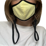 Black Silver Ion Antibacterial Mask with Holder Strap