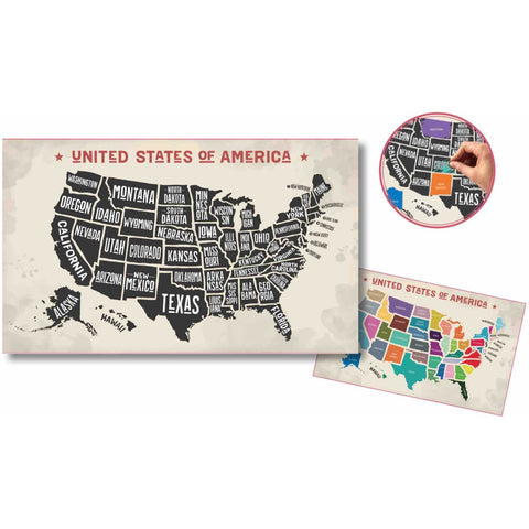 Scratch-Off USA Map