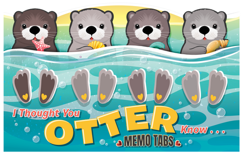 Your Otter Know Memo Tab Set