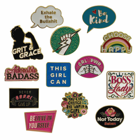 Inspirational Enamel Pins