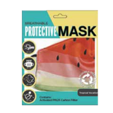 B&W Whimsy Print Protective Face Masks