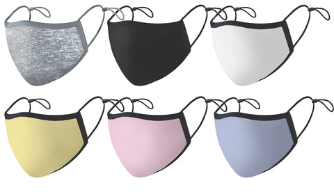 Color Silver Ion Antibacterial Mask Assortment with Holder Strap