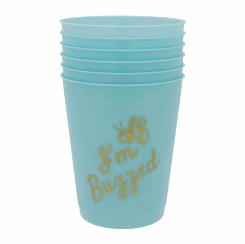 Sip Sip Hooray Stacked Party Cus 16 oz/Set of 6 - I'm Buzzed