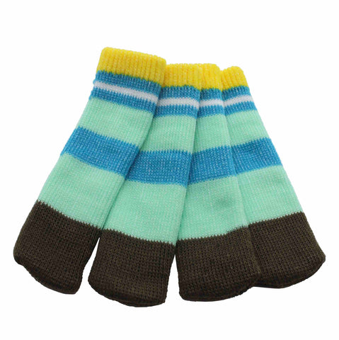 Sock it to Ya! Chair Sock Set - Aqua Stripe
