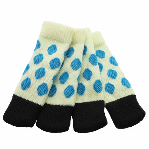 Sock it to Ya! Chair Sock Set - Blue Polka Dots