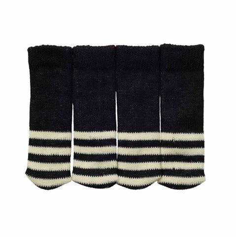 Sock it to Ya! Chair Sock Set - B/W Stripe