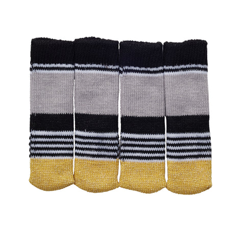 Sock it to Ya! Chair Sock Set - Gold Metallic Stripe