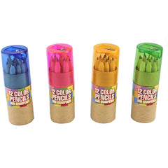 12 Color Pencils With Sharpener Assorted 4
