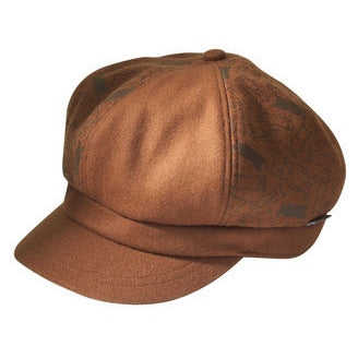 Newsboy Hat Brown Dog