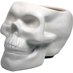 Skull Plant Pot - Bone White