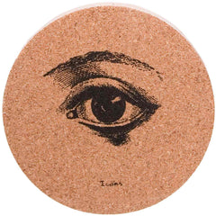 Icons Cork Coaster Set - Eye