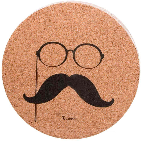 Icons Cork Coaster Set - Gentleman