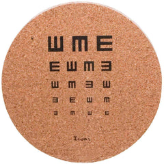 Icons Cork Coaster Set - Eye Chart