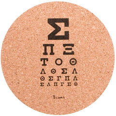 Icons Cork Coaster 4pc Set - Greek Chart