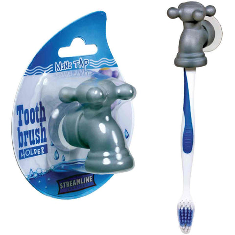Mini Tap Toothbrush Holder