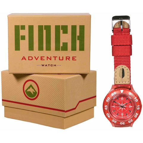 Finch Adventure Kids Watch - Red