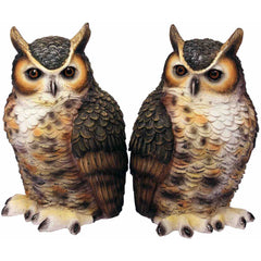 Great Horned Owl Bookend Set