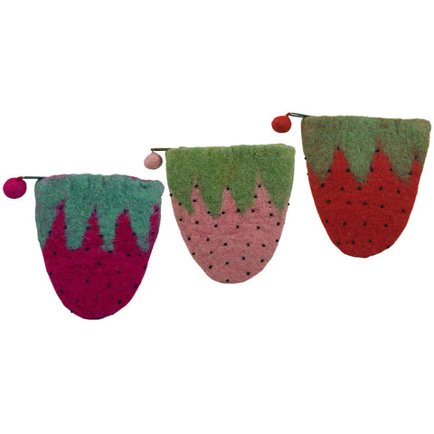 Strawberry Patch Coin Purse Asst/3