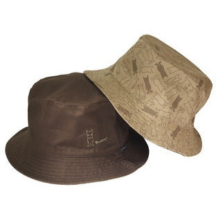 Fisherman Hat Brown Dog