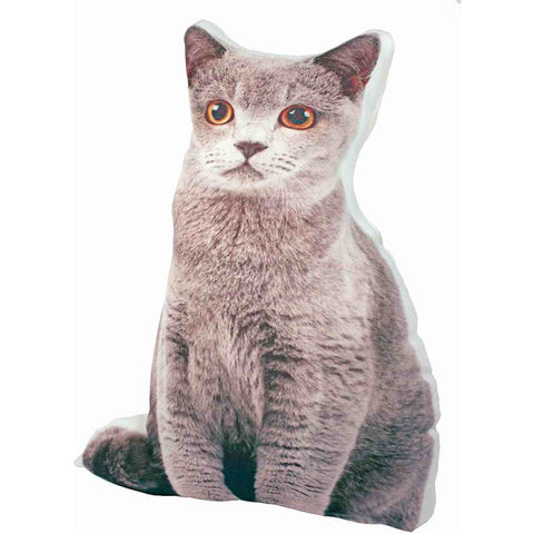 Gray Cat Doorstop