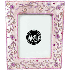 Pretty In Pink Embroidered Frame