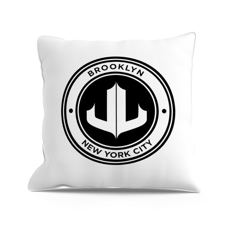 """JL"" Reversible Signature Logo Pillow"