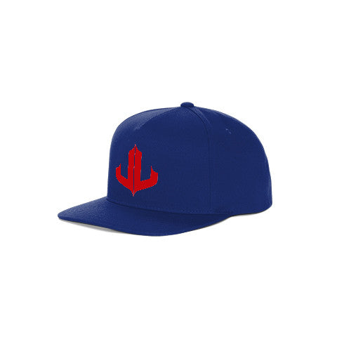 "Blue & Red Signature ""JL"" Snapback"