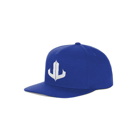 "Blue & White Signature ""JL"" Snapback"