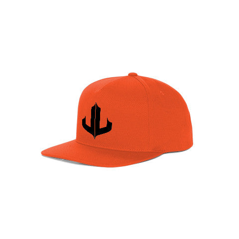 "Orange & Black Signature ""JL"" Snapback"