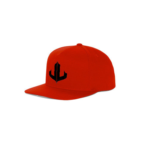"Red & Black Signature ""JL"" Snapback"