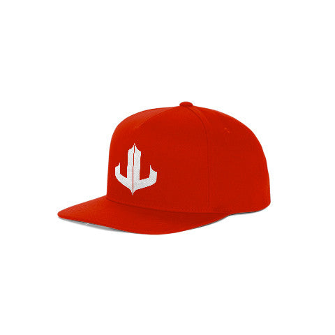 "Red & White Signature ""JL"" Snapback"