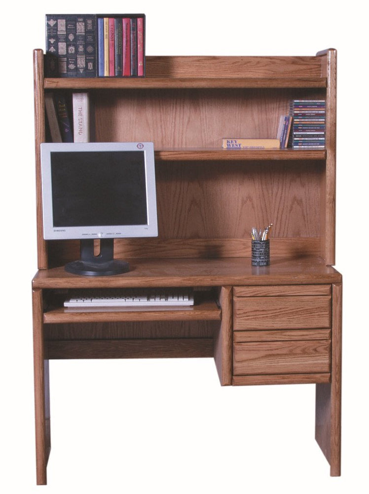 Forest Designs Bullnose Computer Desk ONLY (Hutch $349): 44W x 30H x 18D