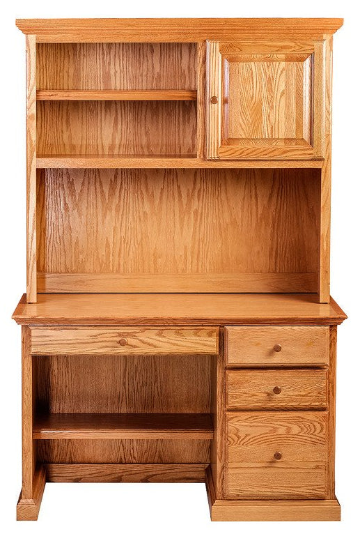 Forest Designs Traditional Desk w/Pencil Drawer + Hutch (48W x 72H x 24D)
