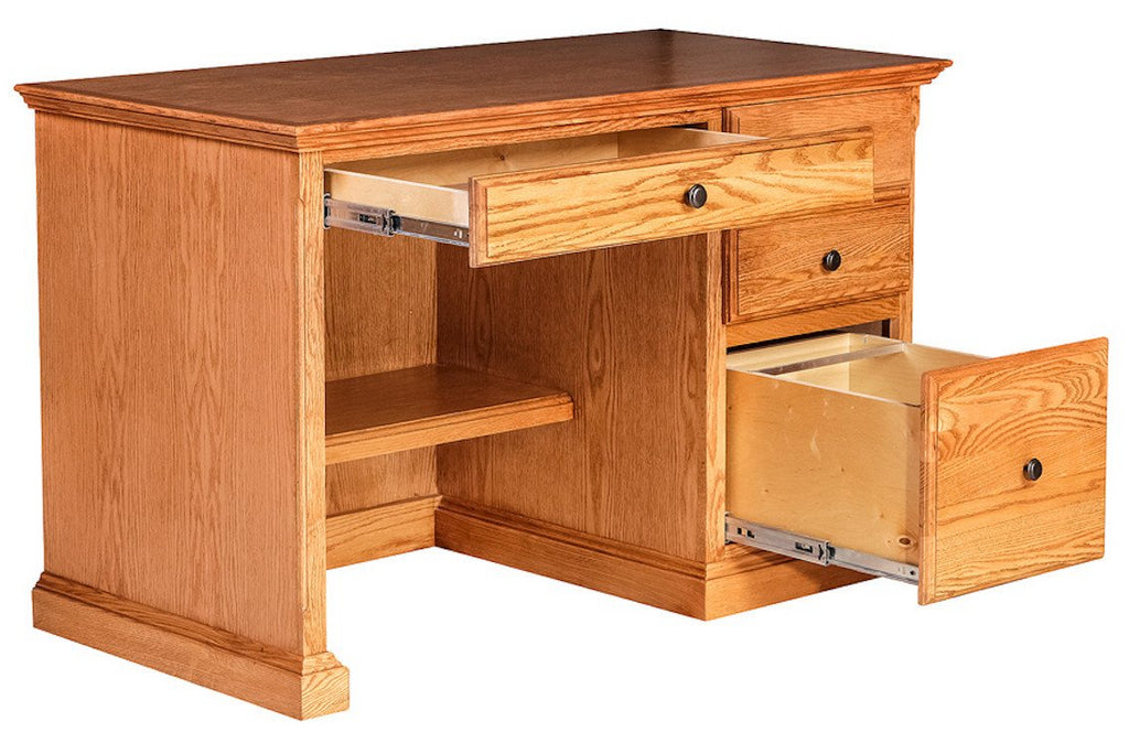 Forest Designs Traditional Desk w/ Pencil Drawer: 48W X 30H X 24D (Black Knobs)