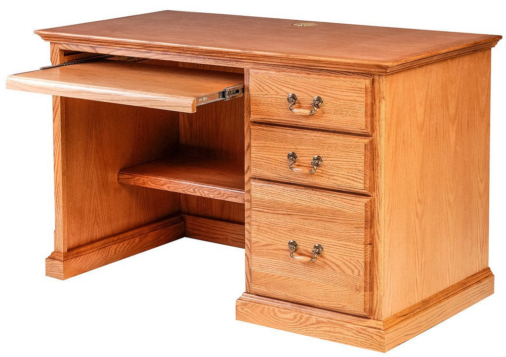 Forest Designs Traditional Oak Desk w/Keyboard Pullout (48W x 30H x 24D)