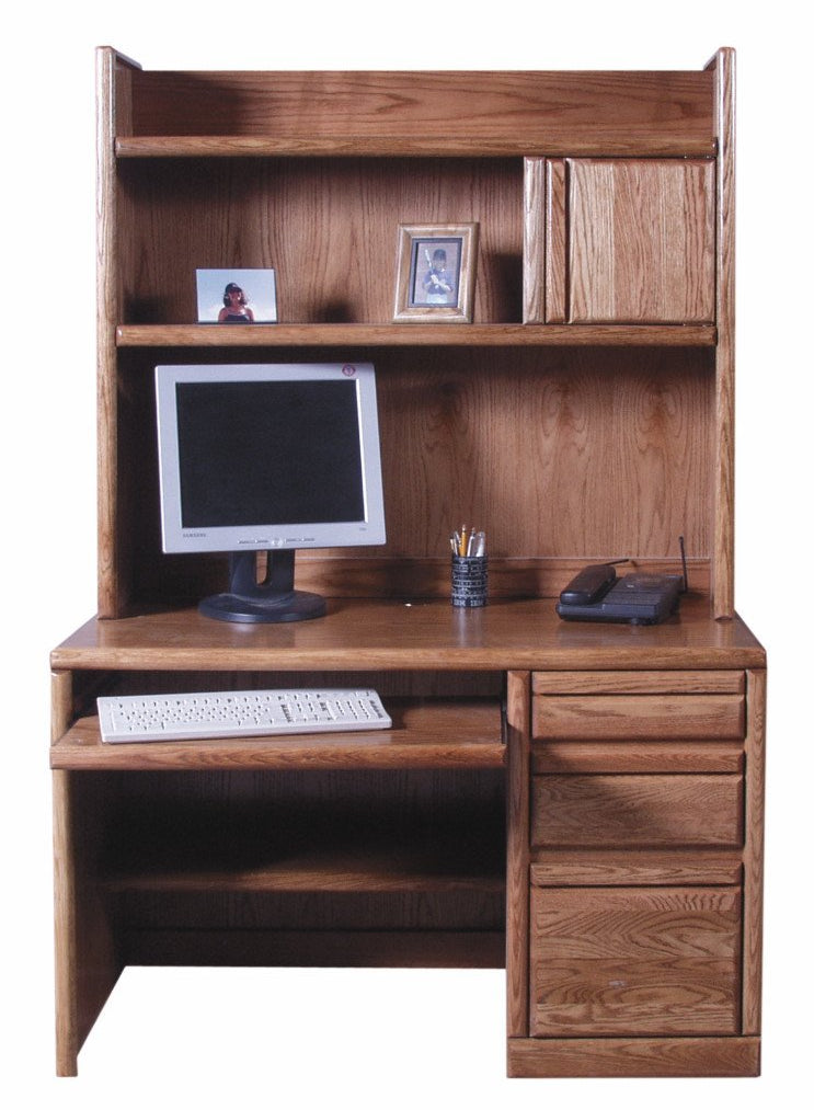 Forest Designs Bullnose Desk w/Keyboard Pullout & Hutch: 48W x 72h x 24D