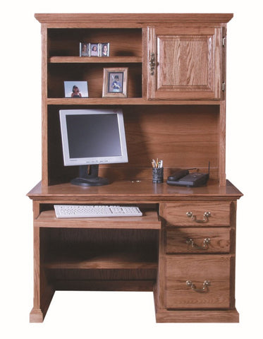 Forest Designs 48w Traditional Desk & Hutch with Keyboard Pullout