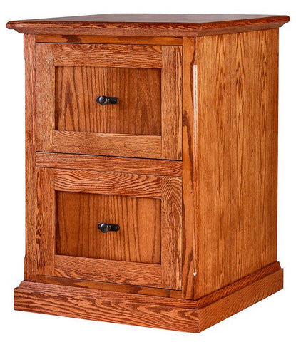 Forest Designs Mission Oak Two Drawer File: 22W x 30H x 21D