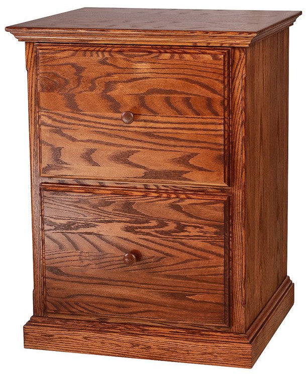 Forest Designs Traditional Oak 2 Drawer File w/Wood Knobs (22W x 30H x 21D)