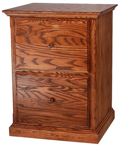 Forest Designs Traditional Oak Two Drawer File: 22W x 30H x 21D