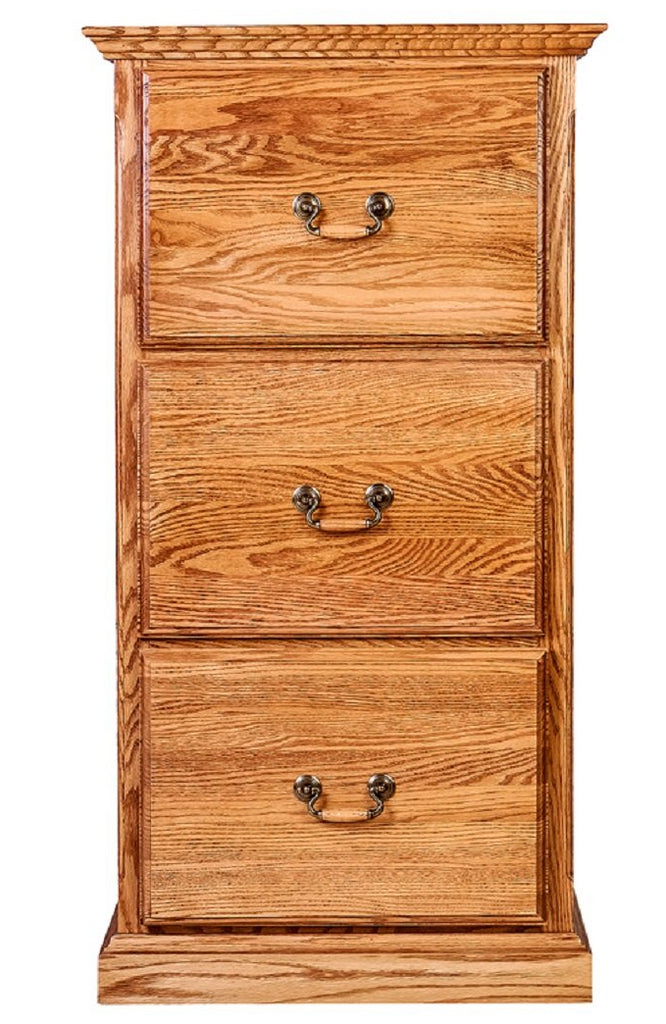 Forest Designs Traditional 3 Drawer File (22W x 43H x 21D)