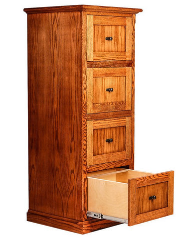 Forest Designs Mission 4 Drawer File (22W x 56H x 21D)