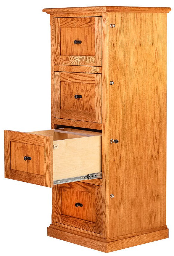 Forest Designs Mission Four Drawer File: 22W X 56H X 21D