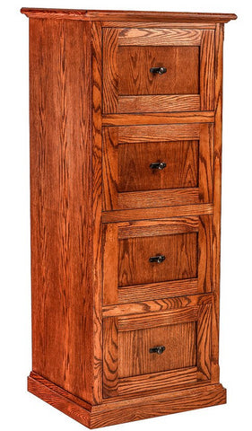 Forest Designs Mission Oak 4 Drawer File (22W x 56H x 21D)