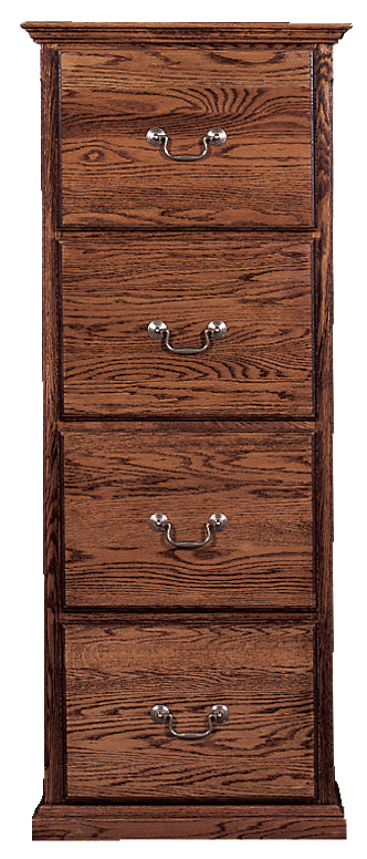 Forest Designs Traditional Four Drawer File Cabinet: 22W x 56H x 21D