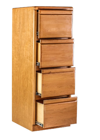Forest Designs Bullnose 4 Drawer File Cabinet (22W x 56H x 21D)