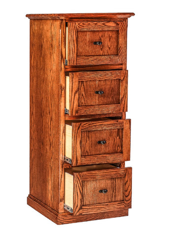 Forest Designs Mission 4 Drawer File Cabinet (22W x 56H x 21D)
