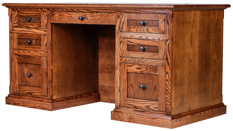 Forest Designs Mission Executive Double Pedestal Desk (60W x 30H x 28D)
