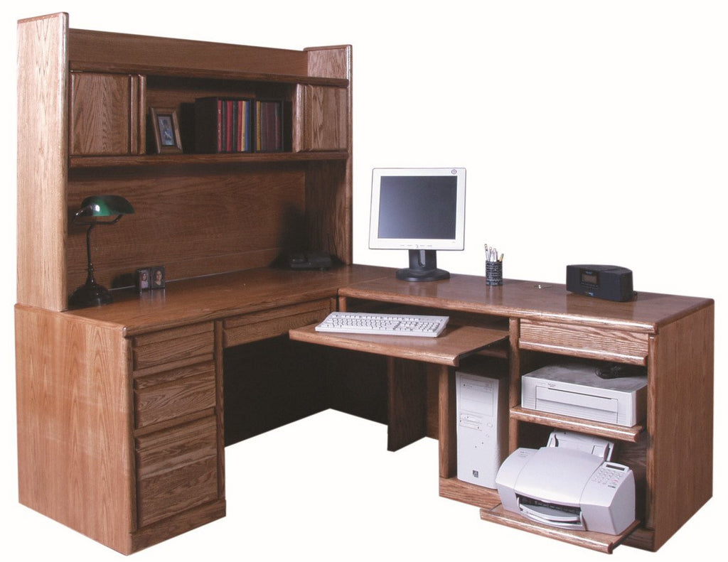 Forest Designs Bullnose Desk + Return (82 x 66) (HUTCH SOLD SEPARATELY $909)