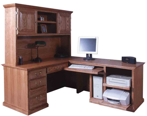 Forest Designs Traditional Hutch for 1050 Desk Portion: 66w x 42H x 13D (No Desk)
